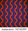 Dotted waves. Grungy seamless pattern - stock vector