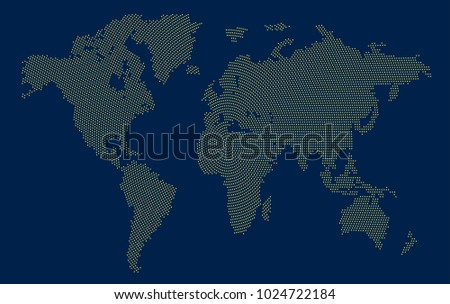 Abstract world map letters english alphabet stock vector 577195249 dotted world map gumiabroncs Image collections