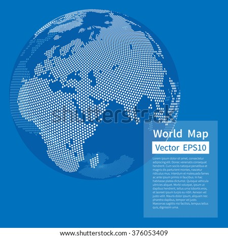 Dotted world map background earth globe stock vector 376053409 dotted world map background earth globe globalization concept white and blue vector gumiabroncs Images