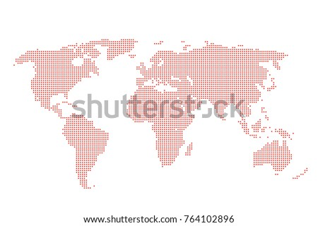 Dotted world map cartography wallpaper world stock vector dotted world map cartography wallpaper world map dots silhouette isolated on white world gumiabroncs Images