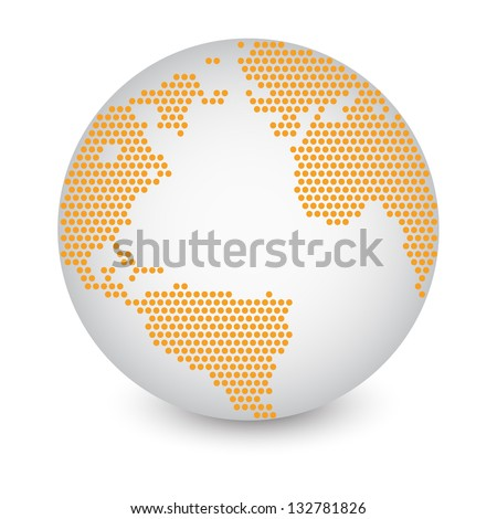 Dotted world map globe made circle stock vector 132781826 shutterstock dotted world map globe made of circle shapes vector illustration eps 10 gumiabroncs Choice Image
