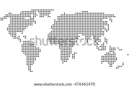Dotted world map vector stock photo photo vector illustration dotted world map vector gumiabroncs