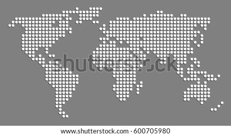 Dotted world map vector illustration stock vector 541840921 dotted world map vector gumiabroncs Images