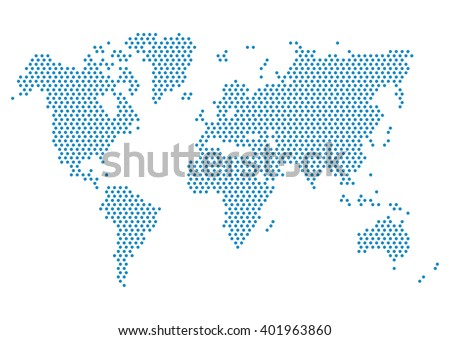 Dotted world map. World map blue. World map vector. World map flat. World map template. World map illustration. World map businnes. World map infographic. World map point. World map art World map card - stock vector