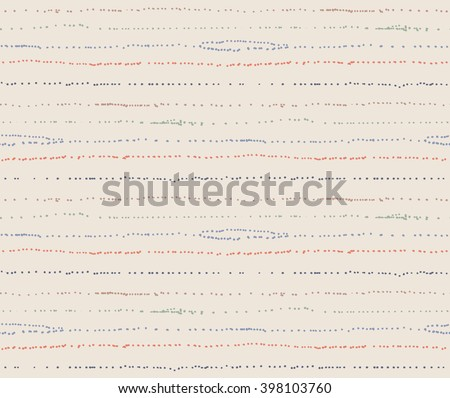 Dotty Stripe Seamless Repeat Tile - Background Wallpaper - Cream, Coral and Blue - stock vector