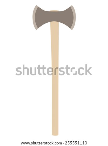 Double Axe Vector Isolated Hatchet Vector Stock Vector 2018