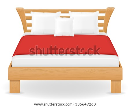 double bed furniture vector illustration isolated on white background