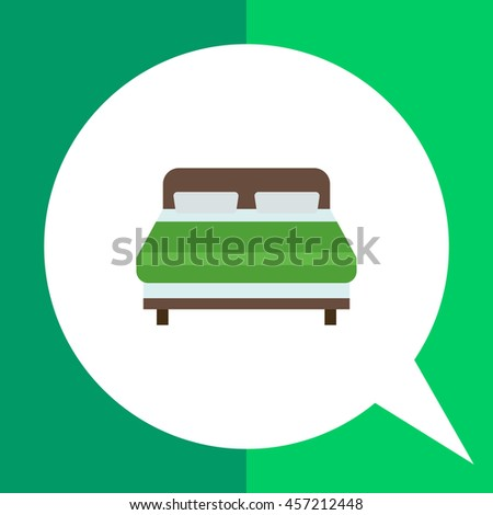 Double bed icon - stock vector