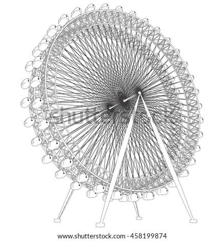 Double Carousel Vector 49 - stock vector