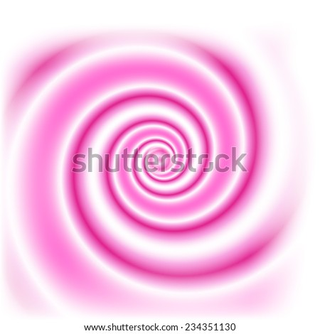Double colored swirl - white and pink. For food design - yogurt, milk beverages etc.  Abstract vector background. - stock vector