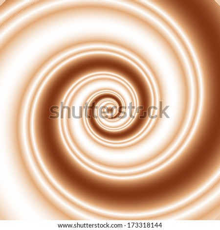 Double colored twirl - white and brown, chocolate, caramel (coffee) and milk. Abstract vector background. - stock vector