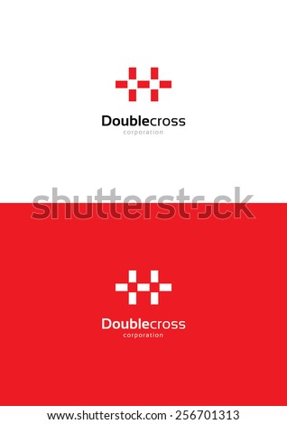 Double Cross Logo Teamplate Stock Vector 256701313 Shutterstock