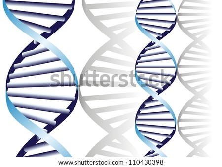 double DNA helix, biochemical abstract background - stock vector