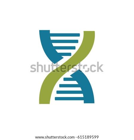Double Helix Dna Logo Vector Stock Vector Royalty Free 615189599