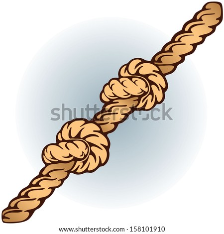 Double knot on rope