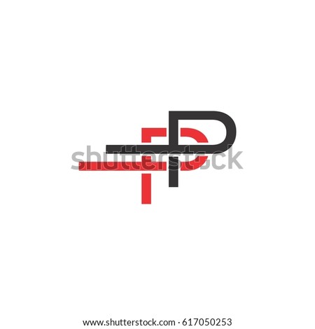 double letter p logo vector stock vector 617050253 - shutterstock