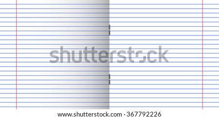 Double Pages Paper Sheet School Writing Exercise Book With Red Margins And  Staples, Clean Lined  Double Lined Paper