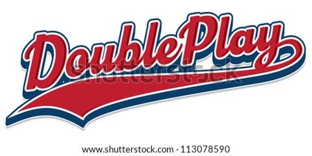Double Play - stock vector