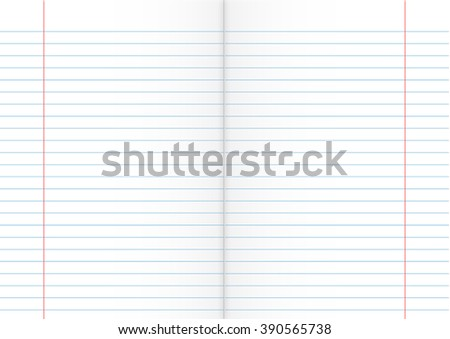 Double Sheet of Lined Paper