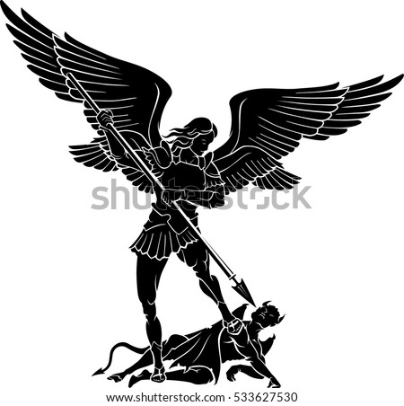 Double Winged Archangel Michael Stock Vector Royalty Free