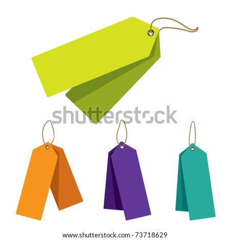 Doubled Price Tags - stock vector