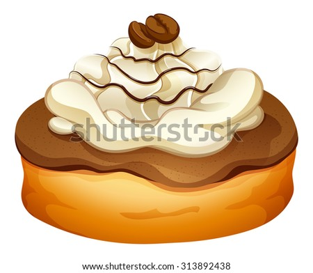 Doughnut with chocolate topping illustration