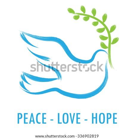 Dove Olive Branch Symbol Peace Stock Photo Photo Vector