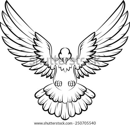 Dove birds logo for peace concept and wedding design - stock vector