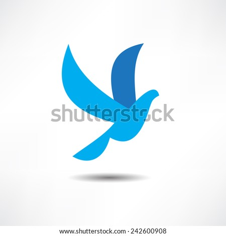 dove icon - stock vector