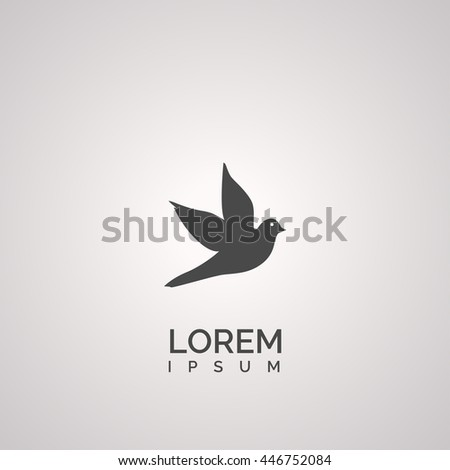 dove icon. dove logo - stock vector