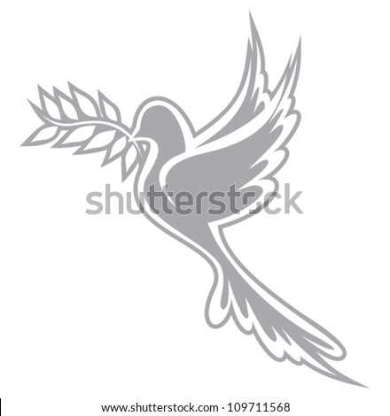 Dove of Peace - stock vector