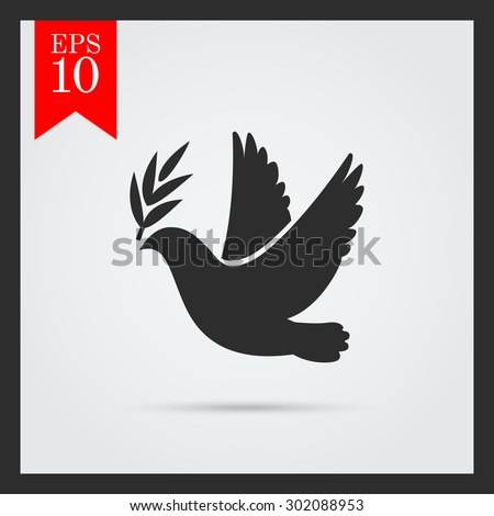 Dove Peace Icon Flying Bird Peace Stock Vector 302088953 - Shutterstock