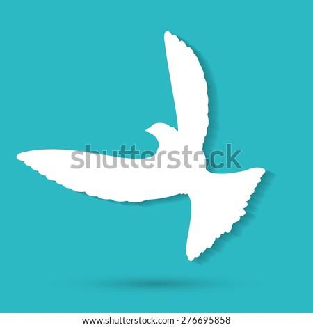 Dove of Peace Vector illustration - stock vector