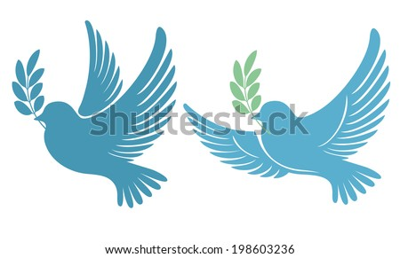 Dove Olive Branch Symbol Peace Hope Stock Vector 198603236