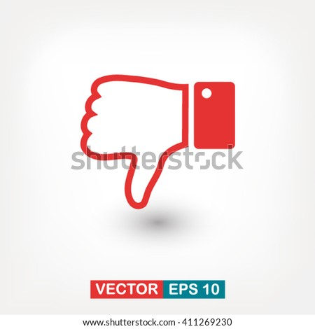 down hand icon. One of set web icons - stock vector