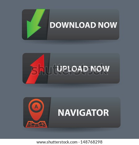 Download and upload banner buttons,vector