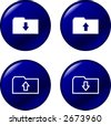 download and upload buttons - stock vector