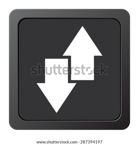 download and upload - vector icon on a grey button