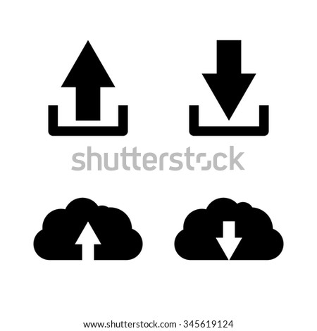 download and upload - vector icon, set