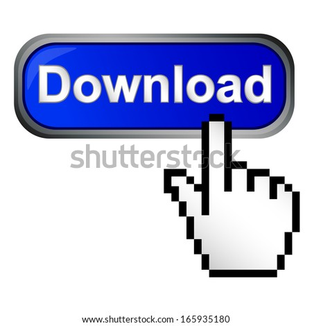 Download button  - stock vector