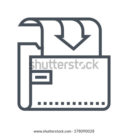 Download folder icon suitable for info graphics, websites and print media and  interfaces. Line vector icon. - stock vector