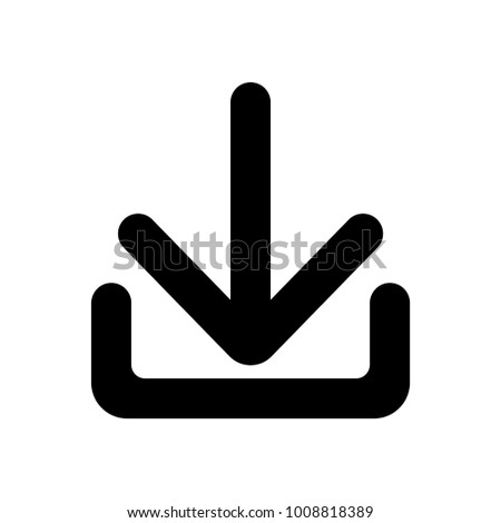 Download Icon Install Symbol Vector Sign Stock Vector Royalty Free