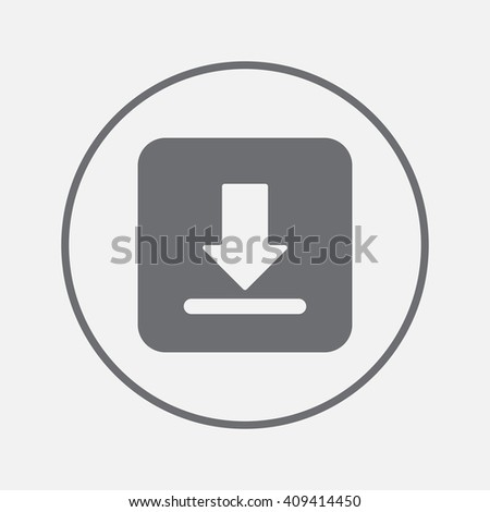 Download icon vector, solid illustration, pictogram isolated on gray - stock vector