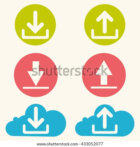 Download now icon. Upload from cloud symbols.Download Icon / Download Icon Path / Download Icon Image / Download Icon File / Download Icon Art / Download Icon UI / Download Icon JPG.