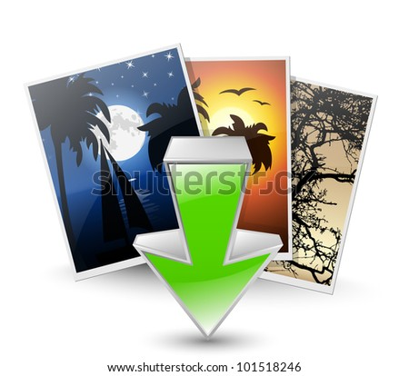 Download photos icon. Vector illustration
