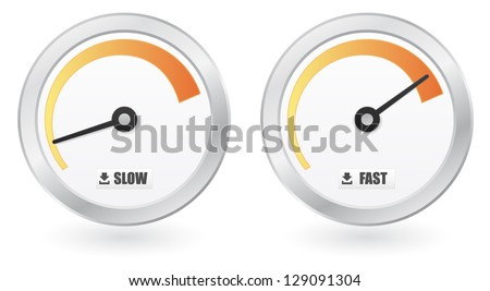 download speed icon button - stock vector