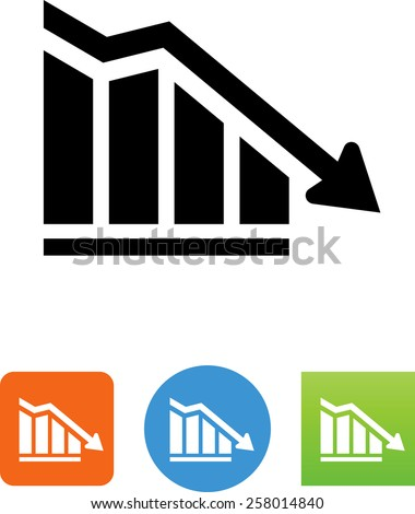 Downward arrow symbol. Vector icons for video, mobile apps, Web sites and print projects.  - stock vector
