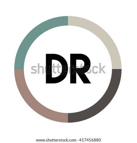 Dr letters four colors abstract background stock vector 417456880 dr letters four colors in abstract background logo design identity in circle alphabet altavistaventures Image collections