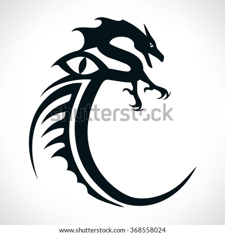 Dragon - a symbol of oriental culture, isolated on white background. - stock vector