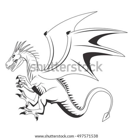 Goat hand draw sketch vector stock vector 307581332 shutterstock dragon animal cartoon design ccuart Images